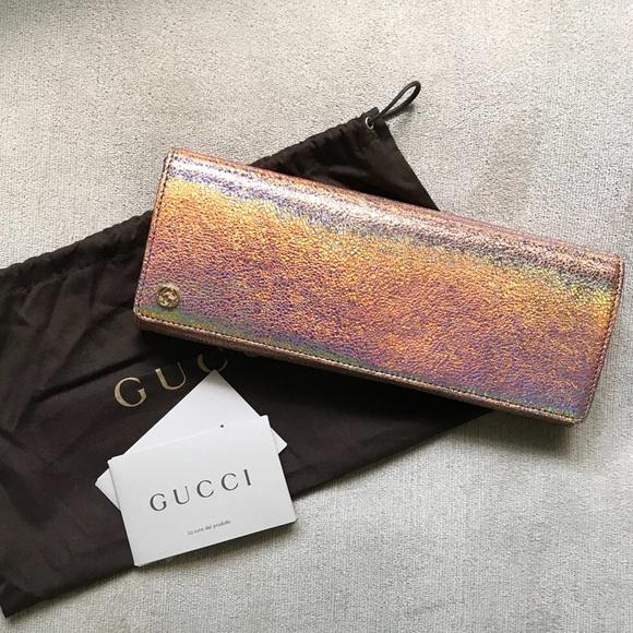 b62a8d05bd Gucci Bags | Broadway Crackled Metallic Evening Clutch | Poshmark